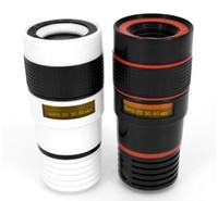 Wholesale Optical Telescope Mini - 12x Zoom Optical Phone Telescope Mini Mobile Phone Lens For iphone 6 6s plus 7 7plus For Samsung S7 S8 With Clip