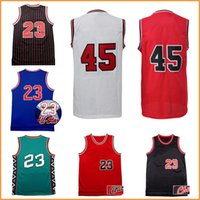 Wholesale Throwback Jerseys Free Shipping - hot sale men's all star retro jordan jersey 45# 23# Michael 100% stitched Throwback basketball jerseys Jeffrey men fast free shipping