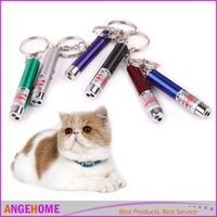Wholesale 2 In1 Laser Pointer Pen With LED Light Funny Pet Toys Light Spot Teasing Toy for Cat Dog