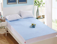 Wholesale Queen Size Terry Towel Waterproof Quilted Mattress Bed Cover Pad Bug Dust Protector Fitted Sheet Washable Bedspread Bedding cm