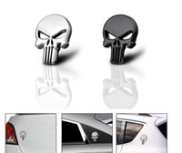 Wholesale Chevrolet Car Stickers - 3D Skull Car Sticker Metal Ghost for Harley Davidson Motorcycle Auto Moto Sticker Car Styling for KIA Chevrolet