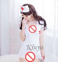Wholesale Sexy White Spandex Nurse Costume - Sexy lingerie set with garter costumes nurse lingerie women underwear Fantasy Costume Sexy Nurse Costumes KY005