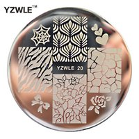 Wholesale polished stainless sheet for sale - YZWLE Sheet Stamping Nail Art Image Plate cm Stainless Steel Template Polish Manicure Stencil Tools YZWLE