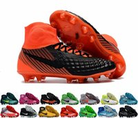 Wholesale 2017 Magista Obra II FG Soccer Shoes Cleats With ACC For Men High Top Football Boots Outdoor Soccer Sneakers Waterproof Size