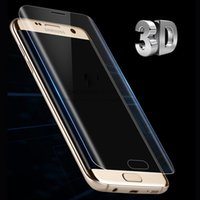 Wholesale Screen Protector Pet Film - For Samsung Galaxy S7 Edge S6 Edge S8 Plus Screen Protector Toughed Pet Film Full Cover (Not Tempered Glass)3D Curved Round Edge