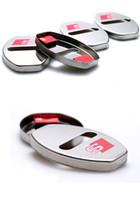 ingrosso autoadesivo inossidabile-Nuovo arrivo in acciaio inox porta serratura decorazione coperchio della copertura della serratura sticker per audi A1 a1 a5 a7 a8 q3 q5 q7 car styling