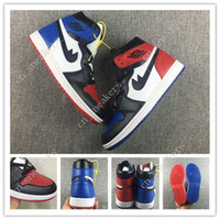 Günstige Retro 1 High OG Top 3 Shattered Backboard Melo Schwarz Toe Herren Basketball Schuhe Royal Blue Gym Red Thunder Retros 1s Sneakers Eur40-47