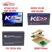 Wholesale Kess V2 - Get ECM TITANIUM V1.61 CD for Free ECU Programmer KTAG V2.13+FG TECH Galletto 4 V54+V2.33 KESS V2+BDM FRAME Full Adapters
