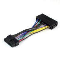 адаптер ibm lenovo оптовых-Кабель питания шнур 18AWG провод ATX 24-контактный до 14-контактный кабель-адаптер для Lenovo IBM Dell Q77 B75 A75 Q75 материнская плата F20812