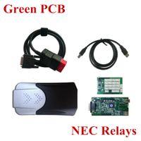 pcb bluetooth großhandel-Großhandel-N-ec Relais Grüne Platine TCS CDP + Pro ohne Bluetooth Autos Lkw Diagnose-Tool 2015.1 oder 2014.3 optional
