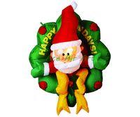Wholesale advertising inflatables for sale resale online - HOT SALES indoor Santa Claus decoration inflatable Christmas gift for advertising