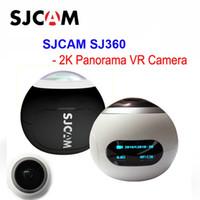 Wholesale panorama cameras - NEW SJCAM SJ360 Panorama WiFi 2K 30fps Sports Action Camera 12MP Fisheye Lens 220 Degree FOV VR Video Recording