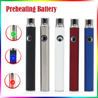 Wholesale Vaporizer Voltage Battery - Preheating Battery 350mah Vaporizer Pen 510 Thread Variable Voltage 4.1-3.9-3.7v Preheat Battery For Ceramic Glass Tank Thick Oil Cartridges