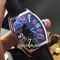 Super Clone Luxury Brand CRAZY HOURS 8880 CH COLOR DREAMS Numerals Dial Automatique Mens Bunce Montre Bracelet en cuir Sport New Gent Montres