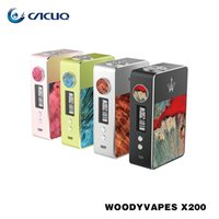 stabilized power - Woody Vapes X200 Box Mod Powered by Batteries w TC Vape Mods Stabilized Wood e cigs Mod Original