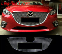 Wholesale Stainless Steel Chrome Front Center Grille Around Cover Trim Racing Grills For MAZDA AXELA MAZDA ATENZA Exterior Car Styling