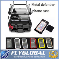 Wholesale Gorilla Case Dhl - Metal Waterproof Cases For iphone 6 6s Plus 5 5s 5c Shockproof LOGO Heavy Duty Armor Aluminum + Tempered Glass Cover Luxury Gorilla free DHL