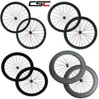 Wholesale Most Carbon Road Wheels - New The most durable 700C full carbon fiber wheelset 24mm 38mm 50mm 60mm 88mm carbon wheels rims circles with Novatec hub from China
