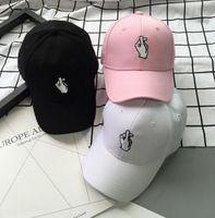 Wholesale Korea Snapback - Hot Snapback Hats Unisex Hat Korea ulzzang Finger Love Heart Caps Cute Fresh Women Caps Couple Hats G-Dragon Same