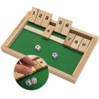 en iyi eğitim ahşap oyuncakları toptan satış-Toptan-Klasik Kapatın Kutu Ahşap Tahta Oyunu Zar Pub Aile Çocuk Oyuncak Noel Hediye Eğitici Oyuncaklar Çocuklar Için En Iyi Hediye Çocuklar