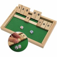 Wholesale Pub Games - Wholesale- Classic Shut The Box Wooden Board Game Dice Pub Family Kids Toy Christmas Gift Educational Toys Best Gift For Children Kids