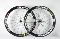Superfície do freio de basalto !! Original ! T800 50mm Superteam full carbon wheels clincher tubular carbono fiber wheelset 18/21 weave 700C * 23