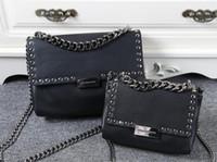 Wholesale Envelope Rivet - Import PVC Top-quality Stella MC women's messenger bag chains crossbody Shoulder Bag Rivet Envolope Totes bag size 25 17cm