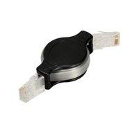 интернет черный оптовых-Оптовый выдвижной позолоченный разъем RJ45 сетевой кабель rj45 Ethernet Lan интернет-кабель черный Лучшая цена