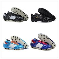 Wholesale Discount Indoor Soccer Shoes - Mens Copa Mundial Leather FG Soccer Shoes Discount Soccer Cleats 2015 World Cup Football Boots Size 39-45 Black White Orange botines futbol