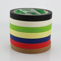 Wholesale Draw Car Paint - Wholesale- 2016 10Rolls 12mmx25M Crepe Paper Masking Tape Good For Car Painting Wall Painting Drawing Decoration Painting Choose Color