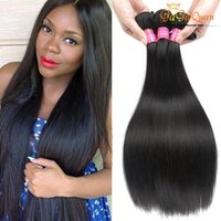 Wholesale Cheap Grade Weave - Cheap Malaysian Virgin Hair Straight Mink 8a Grade Peruvian Brazilian Indian Hair Weave Straight Bunds Extensions Remy Human Hair