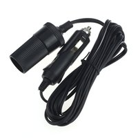 Wholesale Extension Cord Lighter - Wholesale- Hot-sale 1-5m Car Accessory Cigarette Lighter Socket Extension Cord Cable Connector Adapter 1 PC