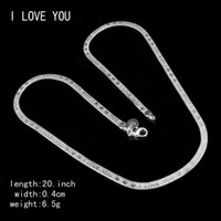 Wholesale China Flats Crystal - 4mm 925 Silver Flat Snake Chain Necklace Cared L Love You Lettering Short Clavicle Chain Choker For Women Valentine'S Day Gifts