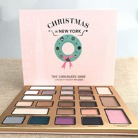 Wholesale drop shipping shop - Christmas in New York THE CHOCOLATE SHOP Eyeshadow Collection 24 Colors Christmas Limited Edition Eyeshadow palette Best Gift drop shipping