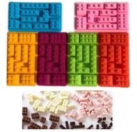 ingrosso stampi di mattoni-Stampi per biscotti Stampi quadrati Stampi per cioccolato a forma di mattarello ECO Candy Maker Utensili da cucina in silicone Bakeware 2018 Nuovo
