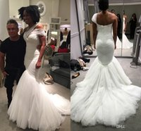 Wholesale One Shoulder Greek Wedding Dresses - Greek Dream One-shoulder Straps Mermaid Beach Wedding Dresses 2017 Modest Tulle Elegant Full length Bohemain Bridal Wedding Gowns