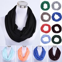 Wholesale Infinity Summer Scarves - Wholesale-Solid Blue Slow Nap Loop Scarf High Quality With Many Fashion Colors Soft Spring and Summer Infinity scarf Shawl Wholesale