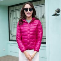 Wholesale Duck Down Jacket Womens - Hot Wholesale Womens Lady Duck Down Ultralight Hooded Puffer Jacket Coat Outdoor Packable with Free Shipping