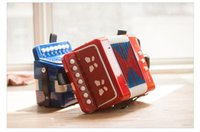 Wholesale Toy Piano Accordion - Children's toys Mini accordion music early stage musical puzzle piano paint send music