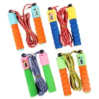 Wholesale Kindergarten Equipment - Skipping Jump Rope with Counter for Children Kids 2.75M Red Kindergarten school sports equipment outdoor toys durable not wrapped sponge
