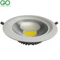 15w led spotlar toptan satış-LED Tavan Downlight 7 W 10 W 15 W 20 W 30 W Dim Gömme Aşağı Işık Tavan Lambası 110 V 120 V 130 V 220 V 230 V 240 V Gömme Spot