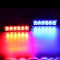 12v führte strobe-lichter motorrad großhandel-36W 12V Blitzwagen Warnlicht LED Tagfahrlicht Polizei Notlicht für LKW / Motorrad / Auto CLT_42P