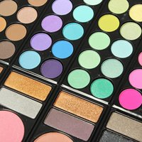 Wholesale Eyeshadow Makeup Palette 78 - Fashion 78 Colors Pro Eyeshadow Palette Makeup Powder Cosmetic Brush Kit Box With Mirror Women Make Up Tools free shipping