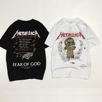Wholesale Men S Fashion Usa - Fear Of God T-Shirt men Popular USA America Style Metallica Fog Top Tees Skatebaord Hip Hop Justin Bieber T Shirt Fear Of God