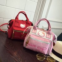 Wholesale Cross Body Backpacks For Women - 6Colors Kawaii Hello Kitty Children Shoulder Backpack Mini Portable Schoolbag Mochilas23*10*24CM For Kids Christmas Gifts