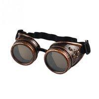 Wholesale Punk Cosplay - Unisex Vintage Sunglasses Men Steampunk Goggles Glasses Welding Punk Gothic Glasses Cosplay Victorian Style 4Colors