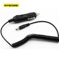 12v şarj cihazı adaptörü toptan satış-Sıcak satış Araba Adaptörü Cabler Nitecore I4 I2 D2 D4 Pil Şarj 12 V Araba Şarj Kablosu USb kablo (siyah) Ücretsiz Kargo