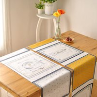 Wholesale Side Table Cover - BZ388 French fashion table runner Coffee western side cabinet entrance cover towel table flag