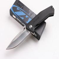 Wholesale bored lock - Newer recommended Zero tolerance Steel lock ZT0303 bearing folding knife camping hunting knife folding knife 1pcs free shipping