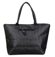 Wholesale Cheap Designed Handbags - Wholesale- Weave Handbag Hot Selling Women PU Leather Cheap Handbag Tote Shoulder Bags Large Capacity PU Weave Bags Fashion Design